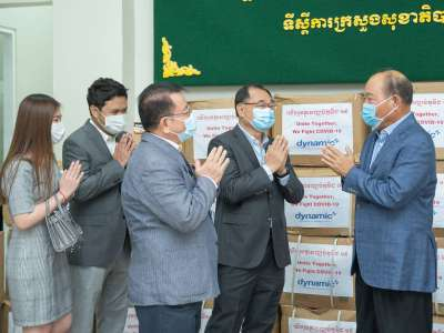 Dynamic Group donates supplies to Ministry Of Health to help battle COVID-19 pandemic